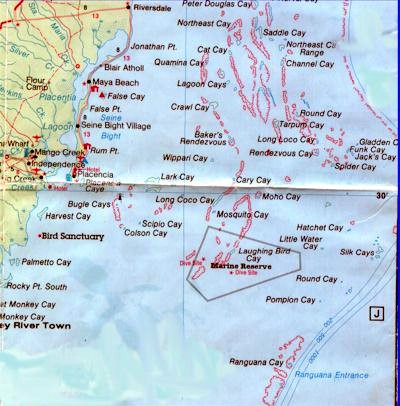 Roximately 75 Cayes Are In The Placencia Laughing Bird Caye Coastal Planning Region From Mouth Of South Stann Creek River To Monkey